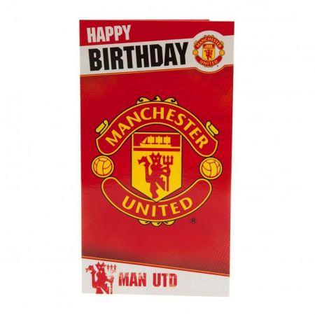 Картичка MANCHESTER UNITED Birthday Card 500739b w10carmu-z01carmu изображение 3