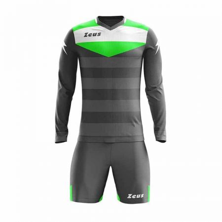 Детски Вратарски Екип ZEUS Kit GK Argo/Slim Fit Grigio Scuro/Verde Fluo 509520 Kit GK Argo