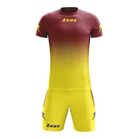 Детски Спортен Екип ZEUS Kit Eros SS Granata/Giallo 517358 Kit Eros SS