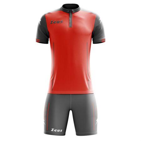 Детски Футболен Екип ZEUS Kit Aquarius Grigio/Rosso 505701 KIT AQUARIUS