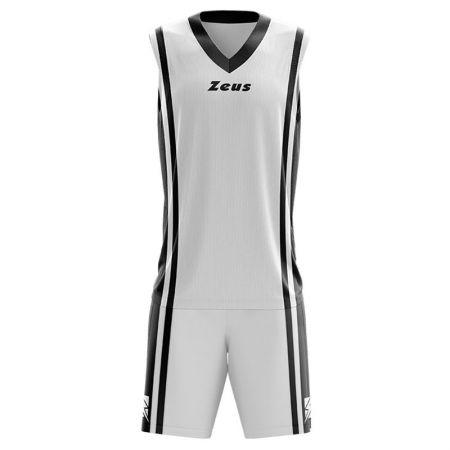 Детски Баскетболен Екип ZEUS Kit Bozo Bianco/Nero 506175 Kit Bozo