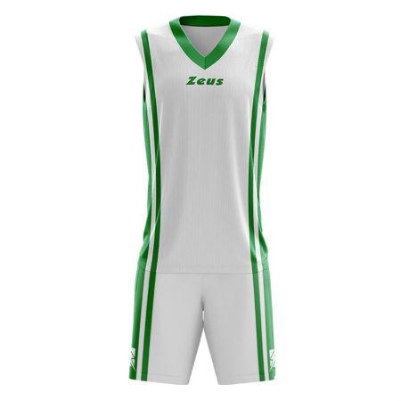 Детски Баскетболен Екип ZEUS Kit Bozo Bianco/Verde 506178 Kit Bozo