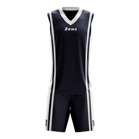 Детски Баскетболен Екип ZEUS Kit Bozo Blu/Bianco 506179 Kit Bozo