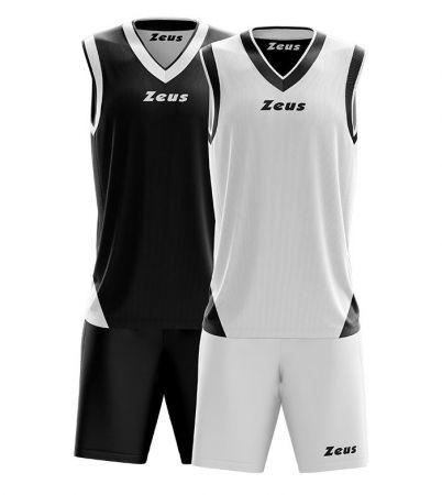 Детски Двулицев Баскетболен Екип ZEUS Kit Doblo Nero/Bianco 506154 Kit Doblo