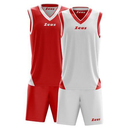 Баскетболен Екип ZEUS Reversible Kit Doblo Bianco/Rosso 506145 Kit Doblo