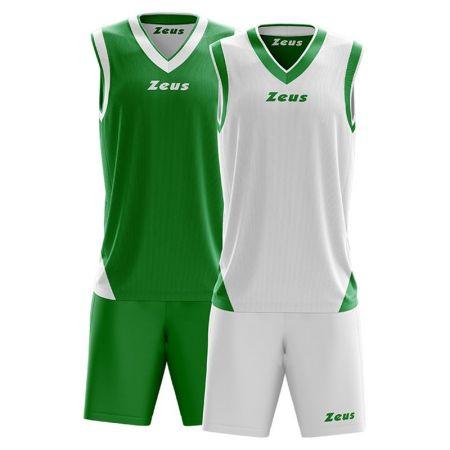 Детски Баскетболен Екип ZEUS Reversible Kit Doblo Verde/Bianco 506157 Kit Doblo