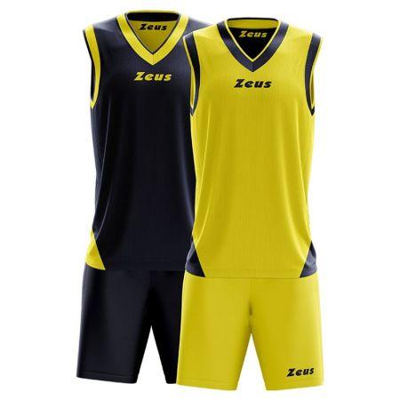Детски Баскетболен Екип ZEUS Reversible Kit Doblo Blu/Giallo 506152 Kit Doblo