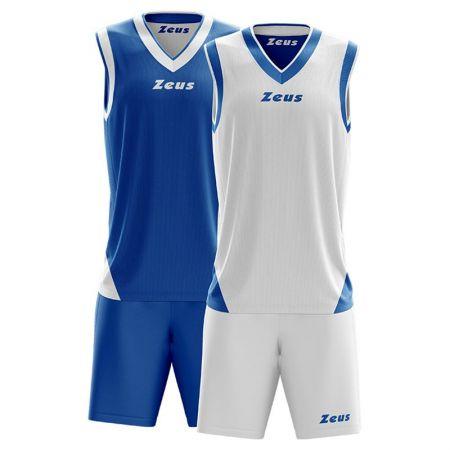 Детски Баскетболен Екип ZEUS Reversible Kit Doblo Royal/Bianco 506156 Kit Doblo