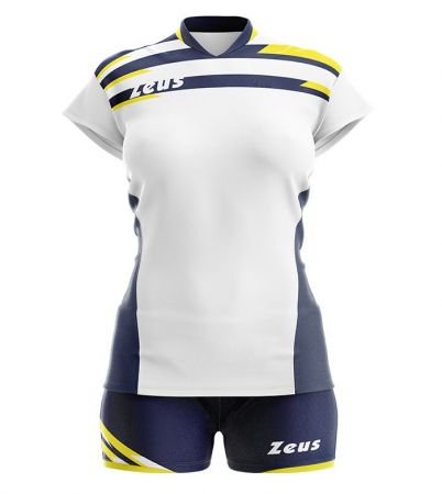 Детски Волейболен Екип ZEUS Kit Itaca Donna Bianco/Blu 506079 Kit Itaca Donna