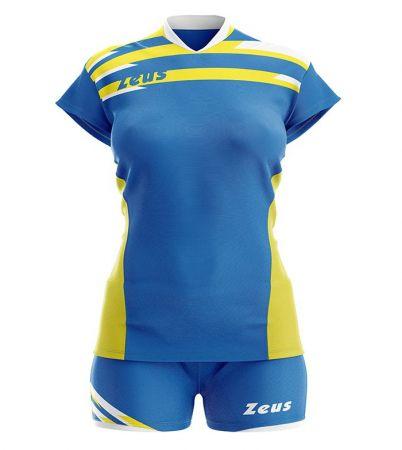Детски Волейболен Екип ZEUS Kit Itaca Donna Royal/Giallo 506085 Kit Itaca Donna