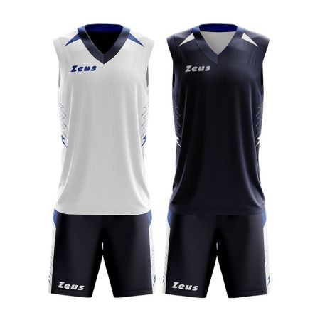 Детски Двулицев Баскетболен Екип ZEUS Reversible Kit Jam 511301 KIT JAM