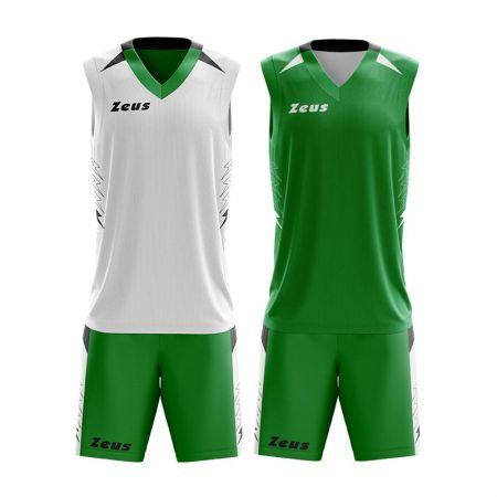 Двулицев Баскетболен Екип ZEUS Reversible Kit Jam Verde/Bianco 511297 KIT JAM