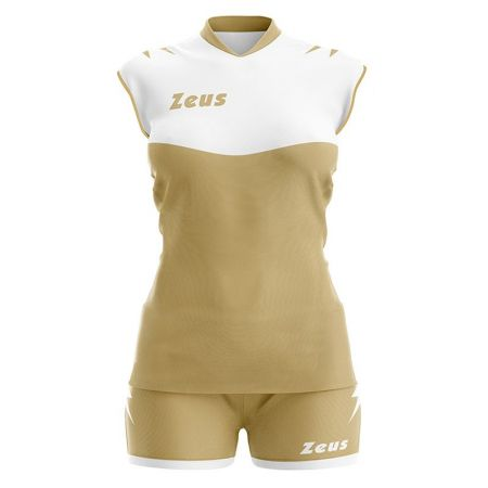 Волейболен Екип ZEUS Kit Volley Sara Slim Fit Bianco/Gold 513295 Kit Volley Sara