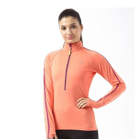 Дамска Блуза MORE MILE Hi Viz Half Zip Ladies Running Top 509389 MM2673