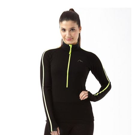 Дамска Блуза MORE MILE Hi Viz Half Zip Ladies Running Top 509397 MM2669
