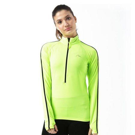 Дамска Блуза MORE MILE Hi Viz Half Zip Ladies Running Top 509398 MM2670