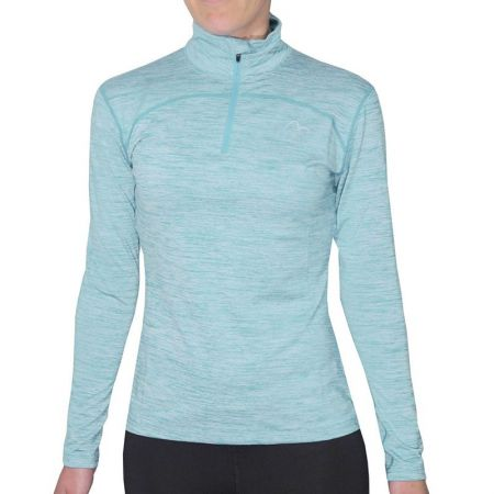 Детски Суичър MORE MILE Heather 1/4 Zip Girls Running Top 508826