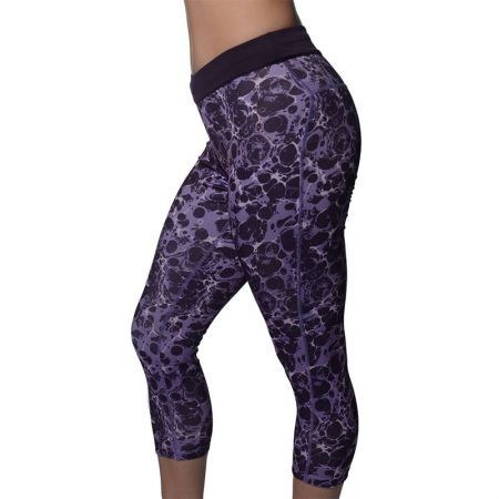 Дамски Клин MORE MILE Printed Ladies Running 3/4 Capri Tights 508749