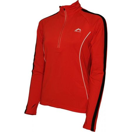 Дамски Суичър MORE MILE Hi-Viz Half Zip Long Sleeve Ladies Running Top 508654 MM2036