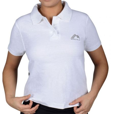 Дамска Тениска MORE MILE Short Sleeve Ladies Polo Shirt 508814 MMSSPOLOWWHT
