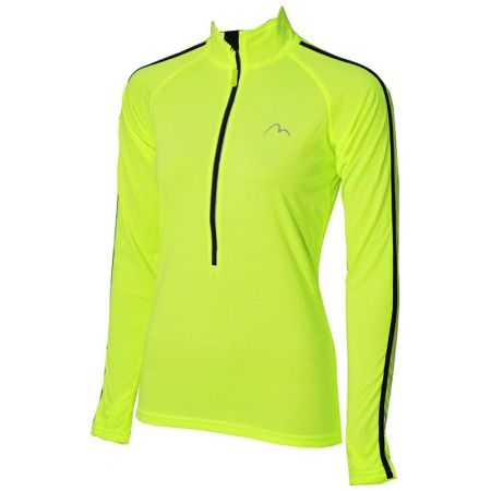 Дамска Блуза MORE MILE Hi Viz Half Zip Ladies Running Top 509398
