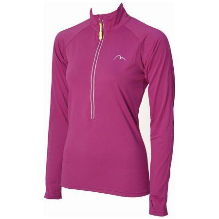 Дамска Блуза MORE MILE Hi Viz Half Zip Ladies Running Top 509396