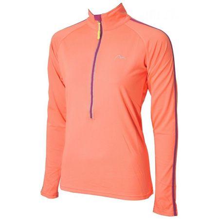 Дамска Блуза MORE MILE Hi Viz Half Zip Ladies Running Top 509389