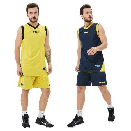 Двулицев Баскетболен Екип ZEUS Kit Doblo Blu/Giallo 506143 Kit Doblo