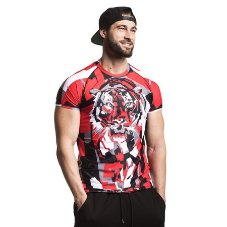 Мъжки Рашгард EXCESSWEAR Rashguard Tiger Red 518536