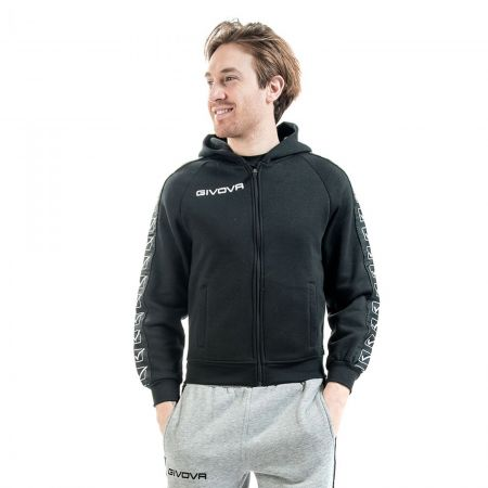 Мъжки Суичър GIVOVA Felpa Full Zip Band 0010 515395 BA10