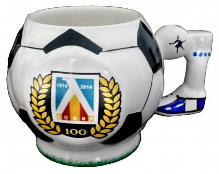 Чаша LEVSKI Crest Ceramic Football Mug 100 Years 500828a