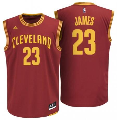 Официален Екип NBA CLEVELAND CAVALIERS LeBron James Adidas Jersey 101293a