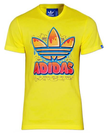 Мъжка Тениска ADIDAS Originals Graffiti Trefoil Shirt 101079 F83082
