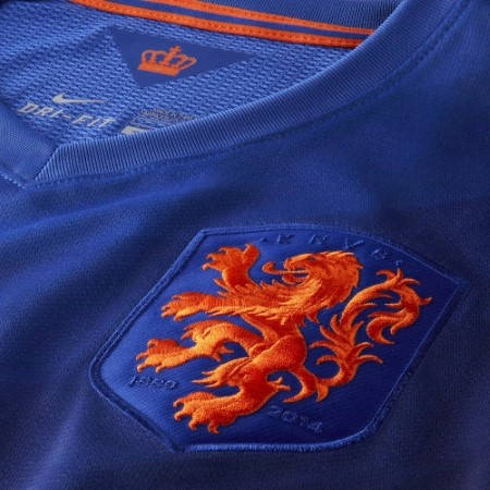 Официална Фланелка Холандия HOLLAND 2014 World Cup Away Kit 500983a  изображение 3