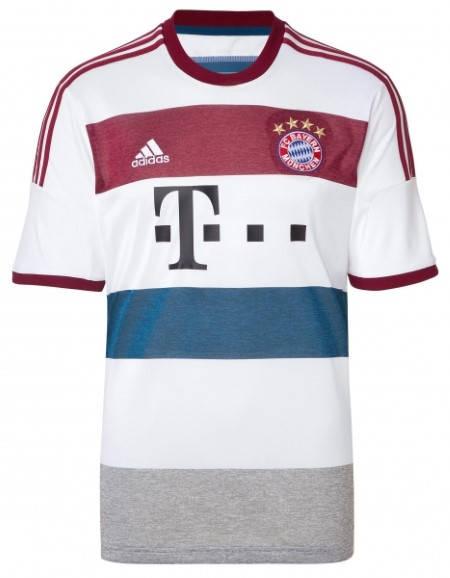 Официална Фланелка Байерн Мюнхен BAYERN MUNICH Mens Away Shirt 14-15 501083a