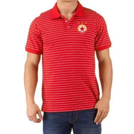 Мъжка Тениска CSKA Striped Polo Shirt 501251