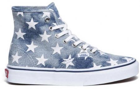 Мъжки Кецове VANS Authentic Hi Washed Denim Blue Star 101118
