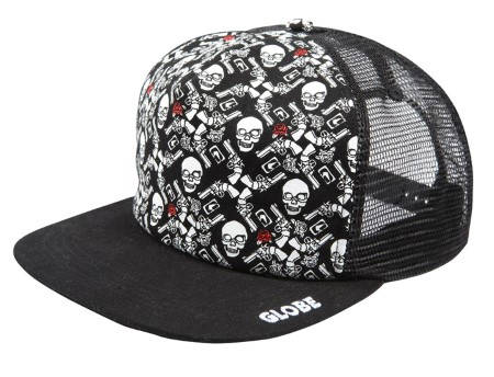 Шапка GLOBE Guns And Roses Trucka Cap S08 400754 30309700133 - BLACK