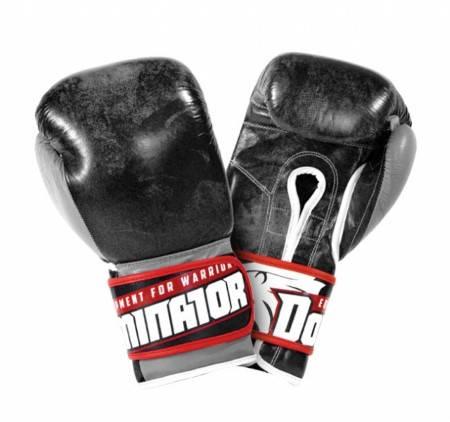 Боксови Ръкавици DOMINATOR Boxing Gloves Stone Lion Leather 401978 15243