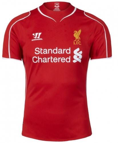 Официална Фланелка Ливърпул LIVERPOOL Mens Home Shirt 14-15 501070  изображение 3