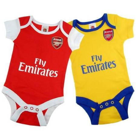 Бебешки Дрехи ARSENAL 2 Pack Bodysuit 501202