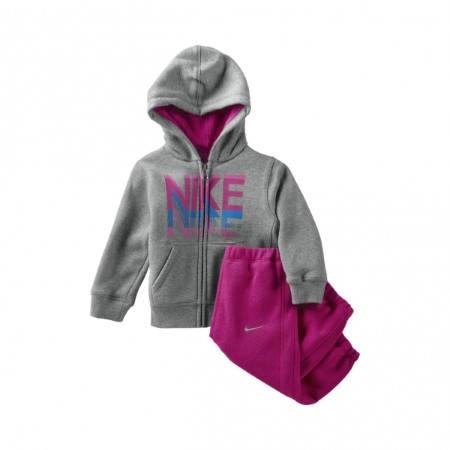 Бебешки Комплект NIKE YA76 Fleece Hoodie Warm Up 300101  481419-063