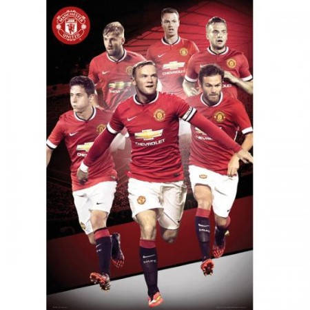 Плакат MANCHESTER UNITED Poster Players 18 500971a