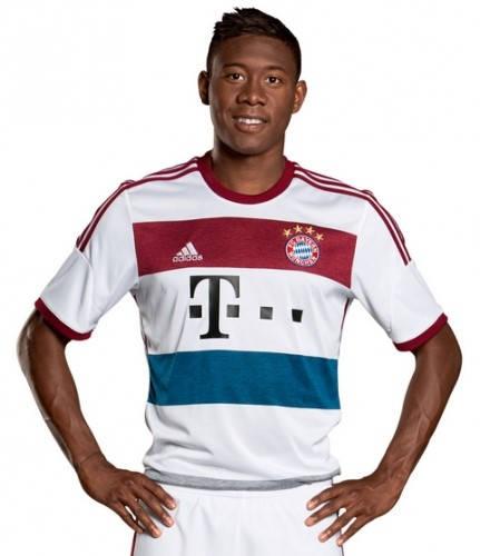 Официална Фланелка Байерн Мюнхен BAYERN MUNICH Mens Away Shirt 14-15 501083a  изображение 3