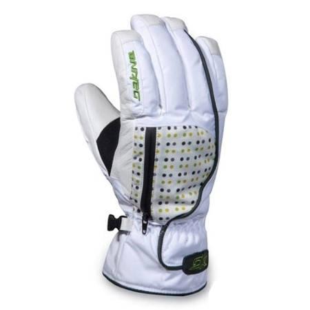 Ски/Сноуборд Ръкавици DAKINE Catera 400373 30307100126 - WHITE/WHITE DOTS