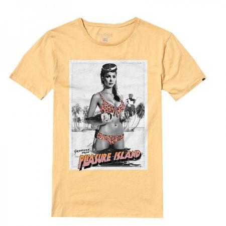 Мъжка Тениска GLOBE Pleasure Island Tee SS14 100765b 30308700701 - MUSTARD