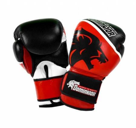 Боксови Ръкавици DOMINATOR Boxing Gloves Black Lion Leather 401987 15252