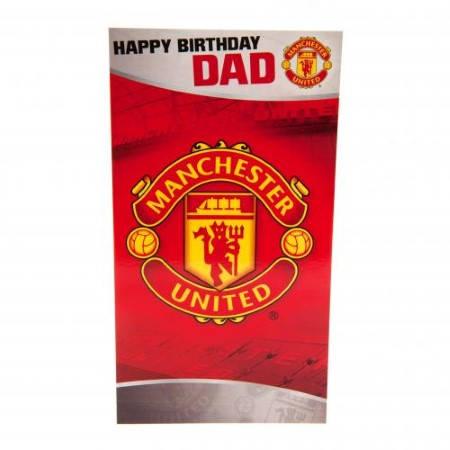 Картичка MANCHESTER UNITED Birthday Card Dad 500739