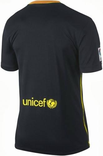 Официална Фланелка Барселона BARCELONA Mens Third Shirt 13-14 500841a  изображение 2