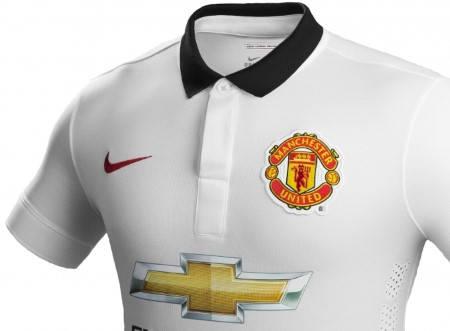 Официална Фланелка Манчестър Юнайтед MANCHESTER UNITED Mens Away Shirt 14-15 501068a  изображение 3